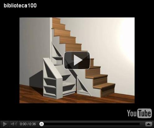 Muebles y maderas mueble bajo escalera for Mueble bajo escalera
