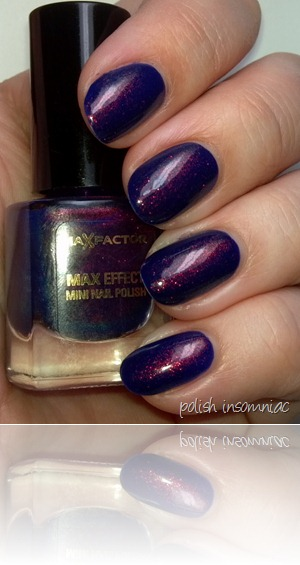 Max Factor Fantasy Fire (over Barry M Indigo) 3