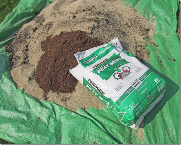 Adding peat moss to the blend of compost and vermiculite