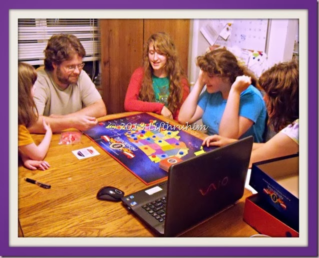 Family Playing The Presidential game