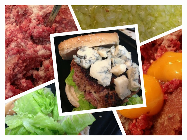 La hamburguesa ...
