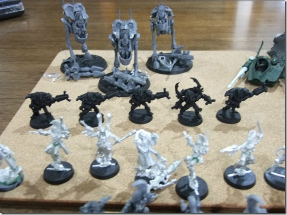 war walkers, harlequins warp spiders