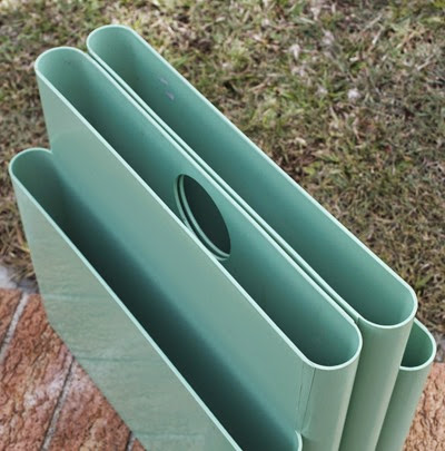 Blue green seafoam 4676 Portariviste magazine rack by Giotto Stoppino for Kartell Italy top
