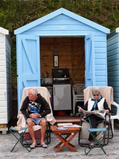 Beach huts...