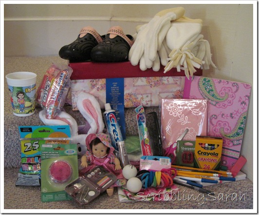 Shoebox items