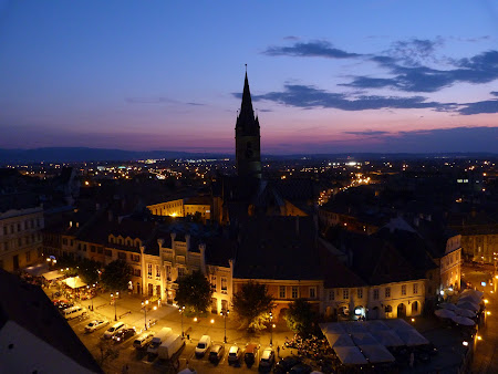 Sibiu: Sibiu by night