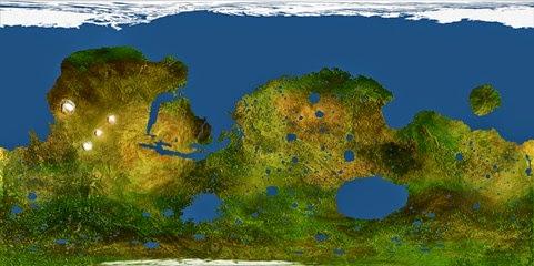 peta mars setelah terraforming