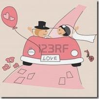dibujos divertidos coches de boda (17)