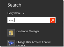 Search for 'Cred'
