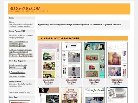 Blog-Zug