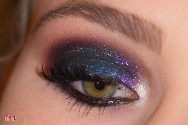 maquiagem com pigmentos da RZ art makeup