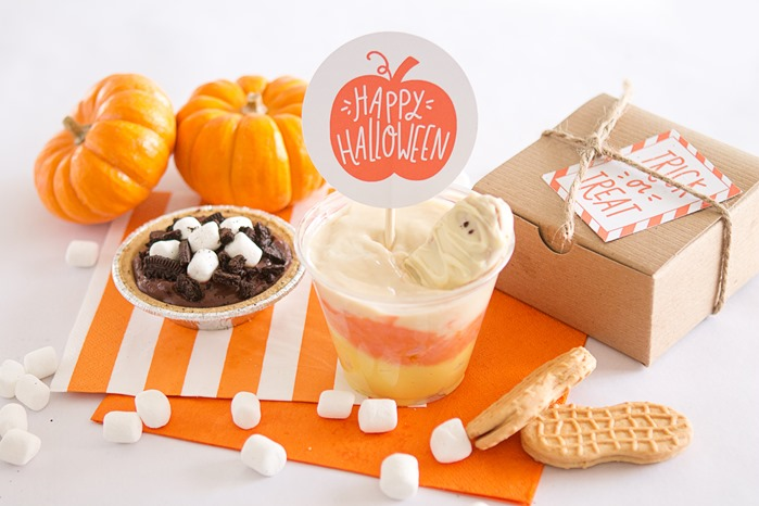 snack pack pudding halloween treats