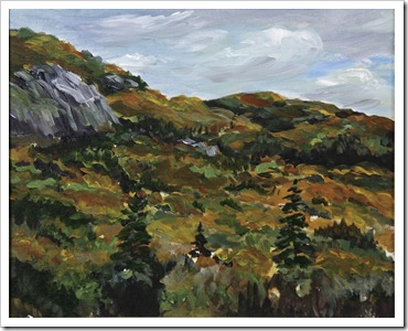 fall searchmont hills painting