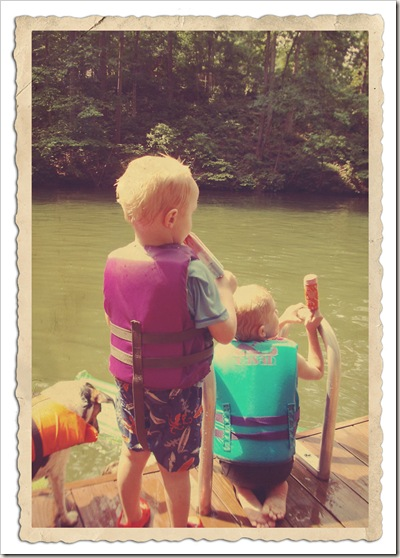sean at the lake
