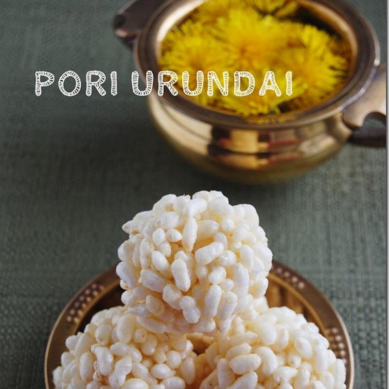 Pori urundai / Puffed rice balls