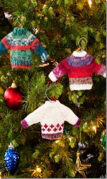 Knit Pattern Sweater Ornament : Knitting Dragonflies: More Christmas Ornament Patterns, Free
