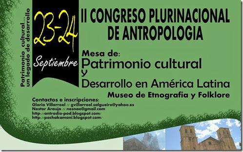 II CONGRESO PLURINACIONAL DE ANTROPOLOGÍA