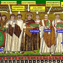 39 bis - Mosaico de Justiniano en San Vital de Rávena 2