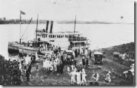 Footballers picnic at Fingal Point Tweed Heads 1928