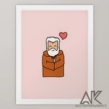 Obi-Wan Valentine Art Print by August Decorous on Society6