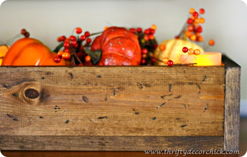 wooden box fall decor