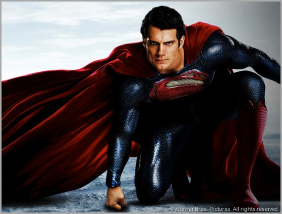 Henry Cavill as Superman in MAN OF STEEL. CLICK to visit the official movie site.