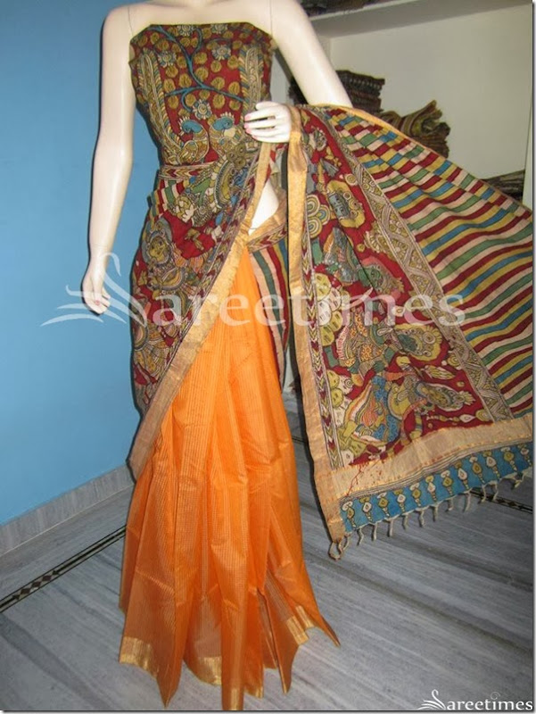 Embellished_Kalamkari_Work_Saree(3)