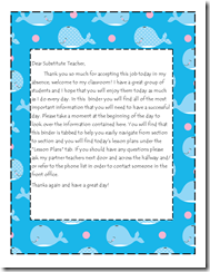 Welcome Letter Sub Binder