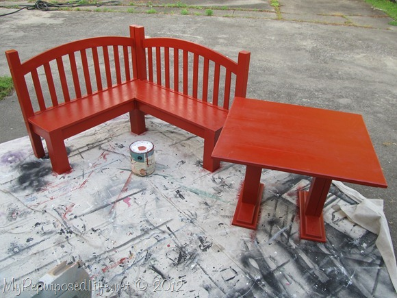 Red Kids Corner Bench