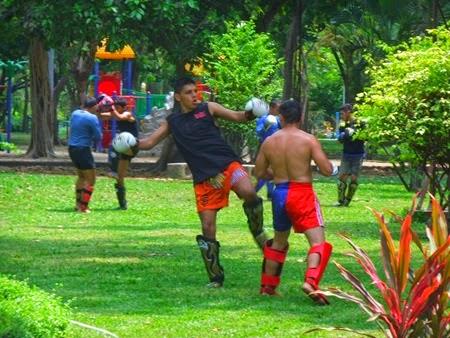 Thai boxing en el parque Lumpini