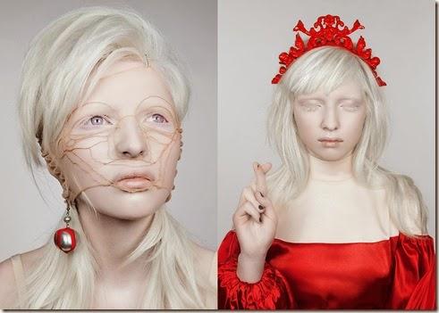 albina, bella, mujer, imagenes