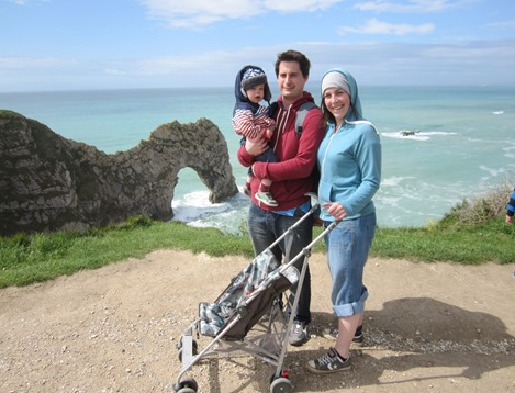 The stroller survived it up to Durdle Door!