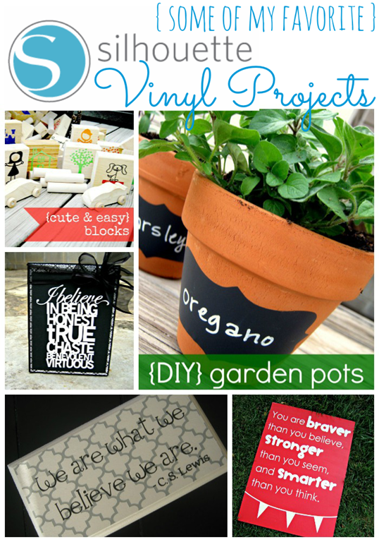 Some of my favorite #silhouette vinyl projects from #gingersnapcrafts