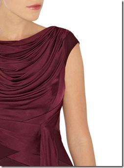 Draped column dress3