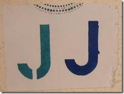 stencil J