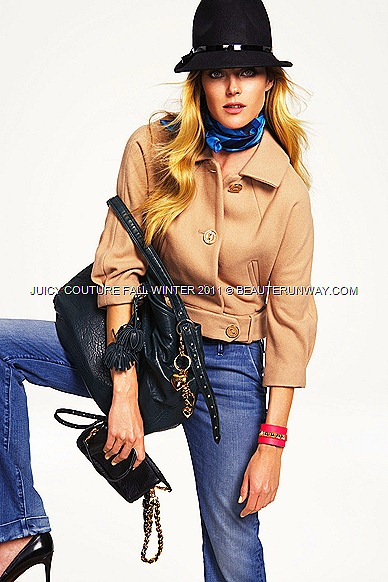 JUICY COUTURE Fall Winter 2011 mohair fedora, jacket and clutch