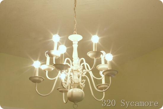 paint brass chandelier