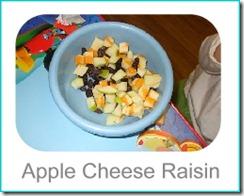 apple cheese raisin