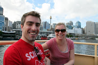 On the ferry out of Darling Harbour