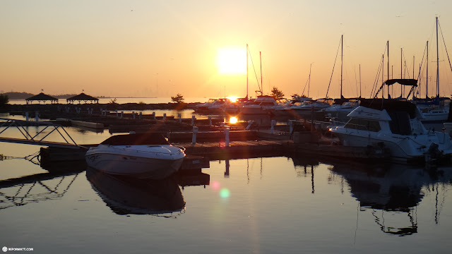 early morning at the Port Credit Marina, Mississauga in Mississauga, Ontario, Canada