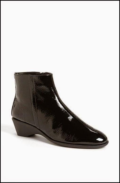 black patent bootie, nordstroms