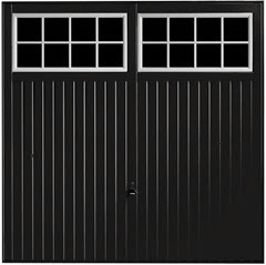 Salisbury garage door in black with black windows