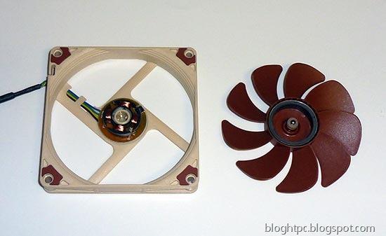 Ventilador NOCTUA NF-A9x14 desmontado
