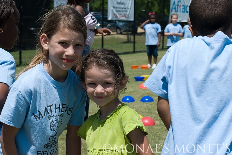 Brooke and Abby at field day blog