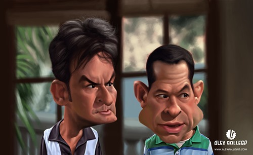 charlie sheen caricature