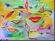 La bouche et les yeux Syl'Art