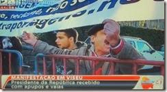 Cavaco vaiado em Viseu. Dez.2013
