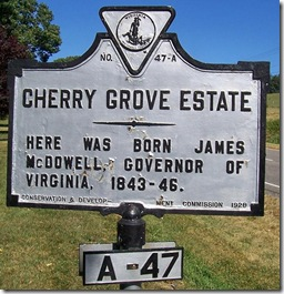 Cherry Grove Estate Marker A-47  Rockbridge Co., VA