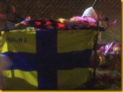 bandiera CROCIATA GIALOBLU NS BORGHI FORNIO
