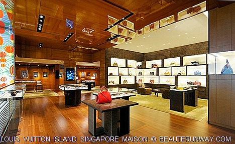 Louis Vuitton Island Singapore Interior High Walls and luxury fittings
